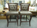 Pair of Leather Vanguard Bar Stools, $379 each