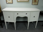"$799 REDUCED $599, Lovely Painted Side Board, Seashell Drawer Pulls, 58"" x 24' x 36""h"