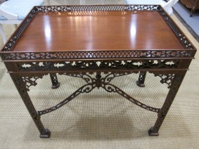 Silver Table, Tea Table, Harrowgate, Chinese Chippendale, $1,229