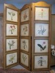 """Screen, 3 Panel, 68"""" x 78, Floral Motif, New Just Unwrapped Manufacturer Packaging, $339"""