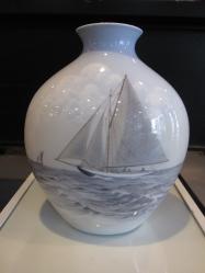 Vintage Bing & Grondahl Large Vessel Vase, Made in Denmark