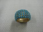 Faux Turquoise Ring, Elastic Adjustable Size, $25