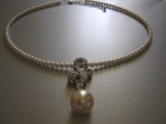 Seed Pearl Necklace, Pave, $38