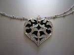 Heart Pave Necklace - $39