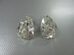 Stud Earrings, Swarovski Faceted Solitaire, $49
