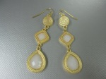 Teardrop Gold/White Stone, $22