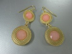 Double Circle Drop Earrings, $38