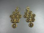 Wire Earrings, Gold, Crystal, $28