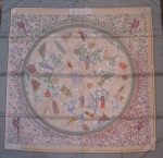"Hermès ""www.hermes.com"" by Christine Henry, Size: 90cm x 89 cm Material : 100% Silk, Excellent condition, $249"