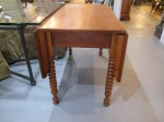 Side View of Drop Leaf Table