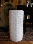 Umbrella Stand, Lattice Design, Ceramic