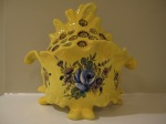 "Made in Italy for Tiffany & Co., Flower Frog, Brillant Colors, Rare, 8.25"" x 7.75"", $125"