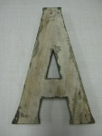 Back View of Letter A