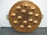 "Vintage Copper & Brass 14  Escargot, Egg Poacher, Lovely Patina, 18"" x 2.5"", $79"