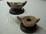 Pair of Roseville Wincraft Candleholders