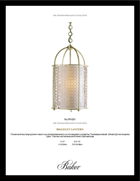 THOMAS PHEASANT, LIGHTING, BRACELET LANTERN, LUXURY LIGHTING