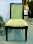 Modern, Contemporary Chairs, Ultra Suede, Espresso Finish Wood, Theodore's Furniture, 6 Available,  $279 each