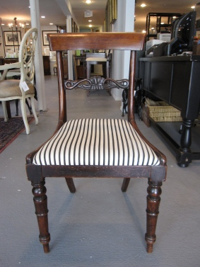 Anitque Chairs, English, Pair of Arch Back Rail, Taper Turned front Legs, Horizontal Carved Back Slat, Possibly Cedar or Mahogany, Age Unknown