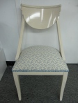 4 Hollywood Regency Style Klismos Chairs, Kravet Seafoam Blue Coral Fabric, $249 each