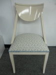 2 Hollywood Regency Style Klismos Chairs, Kravet Seafoam Blue Coral Fabric, $249 each