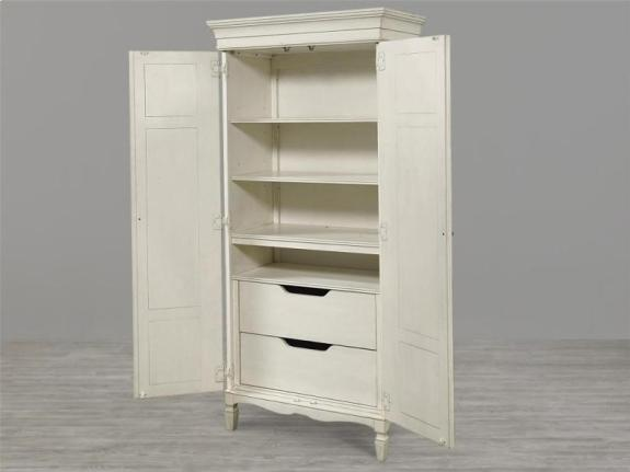 Wardrobe Cabinet Interior View, Summer Hill, tall Cabinet, Cotton, Armoire