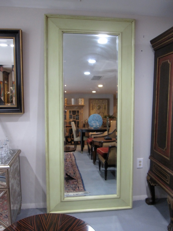 "Floor Mirror, Lightly Distressed, Painted Finish, 88"" x 37"",  $595"