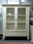 "Cabinet, Lightly Distressed, Interior Lighting, Bottom Drawer, New Condition, 16"" x 48"" x 60""h,  $349"