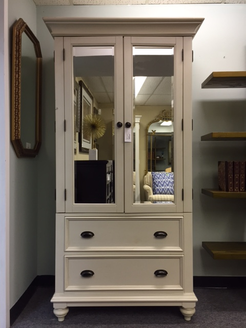 "Brand New - Tall Cabinet, Wardrobe, Armoire, Beveled Mirror, Linen Wood Finish,  35"" x 18"" x 76"",  $839"