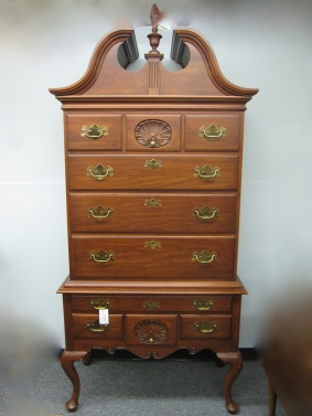 "Highboy, Manufacturer - Henkel Harris, 42"" x 21"" 90""h"