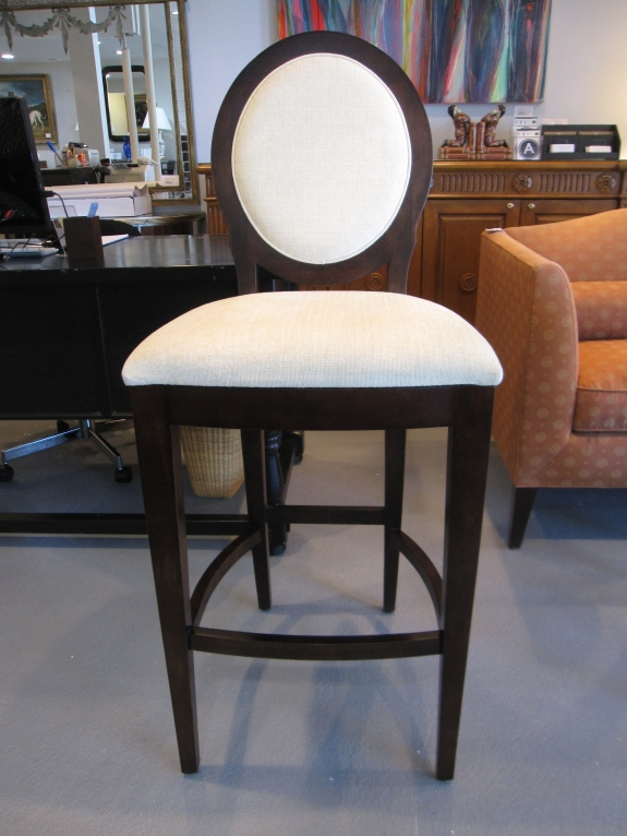 Brand New - Pair of Barstools, Oval Back, Espresso Finish