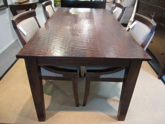 "Dining Table, Heavy Plank Top, Rustic Distressed, Manufacturer: Four Hands - Provence Collection, 38""w x 82"" x 30.5""h, $599"